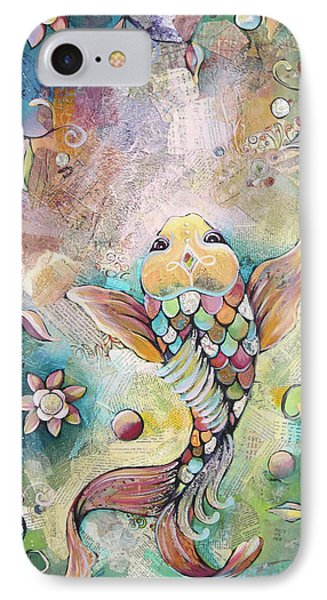 Joyful Koi II IPhone Case by Shadia Derbyshire
