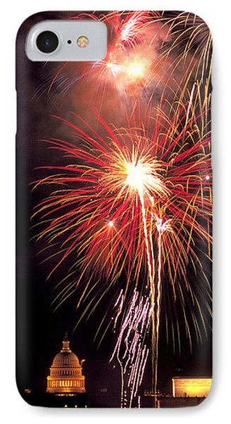 July 4th In Washington Dc IPhone Case by Carl Purcell