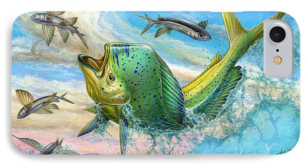 Jumping Mahi Mahi And Flyingfish IPhone 7 Case by Terry Fox