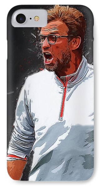 Jurgen Kloop IPhone Case by Semih Yurdabak