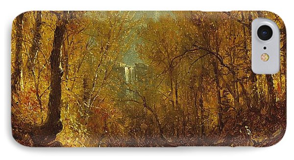 Kaaterskill Falls Phone Case by Sanford Robinson Gifford