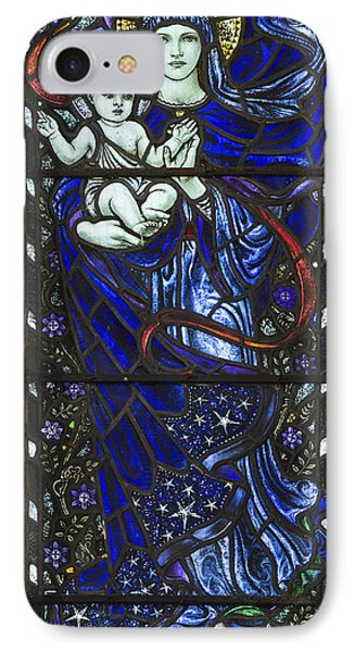 Karl Parsons Stained Glass Bibury Detail IPhone Case by Tim Gainey