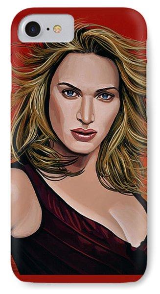 Kate Winslet IPhone Case by Paul Meijering