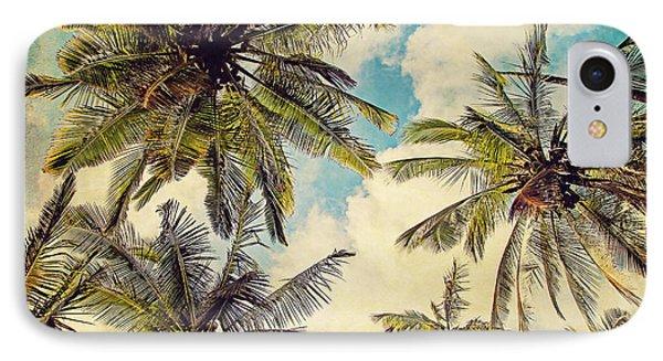 Kauai Island Palms - Blue Hawaii Photography IPhone 7 Case by Melanie Alexandra Price