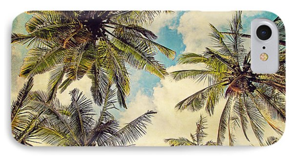 Kauai Island Palms - Blue Hawaii Photography IPhone Case by Melanie Alexandra Price