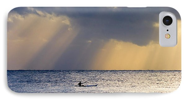 Kayak At Dawn Phone Case by Mike  Dawson