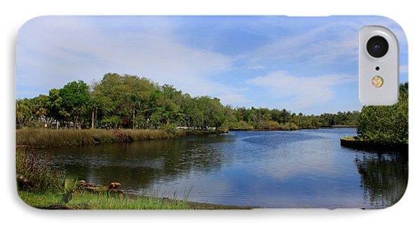 Kayaking The Cotee River Phone Case by Barbara Bowen