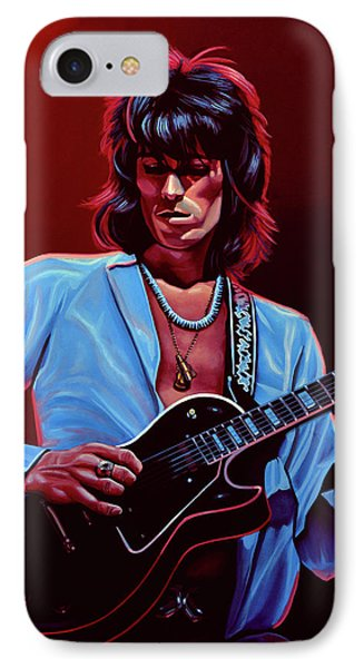 Keith Richards The Riffmaster IPhone Case by Paul Meijering