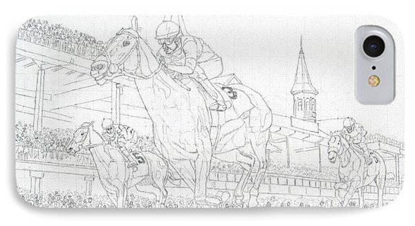 Kentucky Derby - Win, Place, Show IPhone Case by Mike Rabe