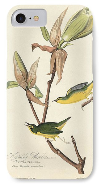 Kentucky Warbler IPhone 7 Case by John James Audubon