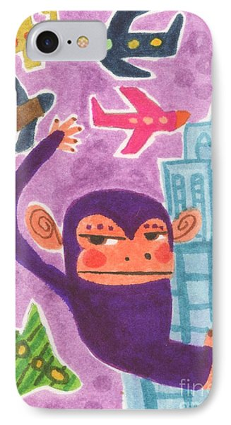 King Kong IPhone Case by Kate Cosgrove