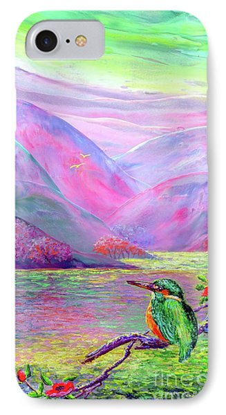 Kingfisher, Shimmering Streams IPhone 7 Case by Jane Small