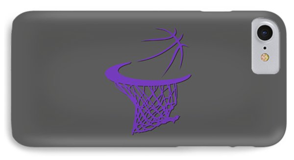 Kings Basketball Hoop IPhone Case by Joe Hamilton