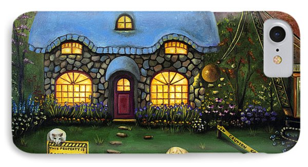 Kinkade's Worst Nightmare 2  Phone Case by Leah Saulnier The Painting Maniac