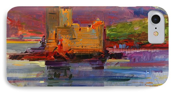 Kisimul Castle And Vatersay IPhone Case by Peter Graham