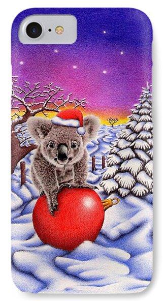 Koala On Ball IPhone Case by Remrov