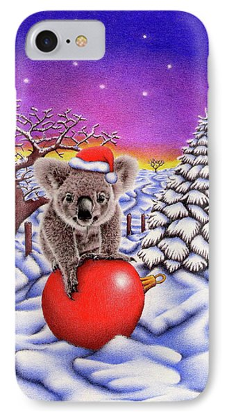 Koala On Christmas Ball IPhone Case by Remrov