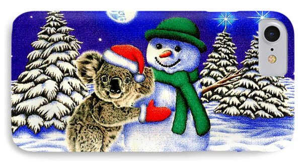 Koala With Snowman IPhone 7 Case by Remrov