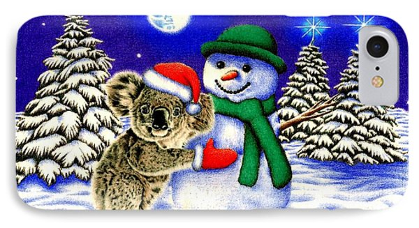 Koala With Snowman IPhone Case by Remrov