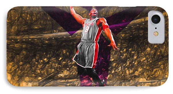Kobe Bryant Black Mamba Digital Painting IPhone 7 Case by David Haskett