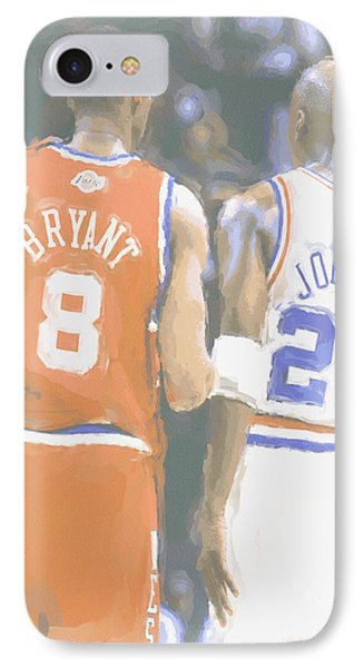 Kobe Bryant Michael Jordan 2 IPhone Case by Joe Hamilton