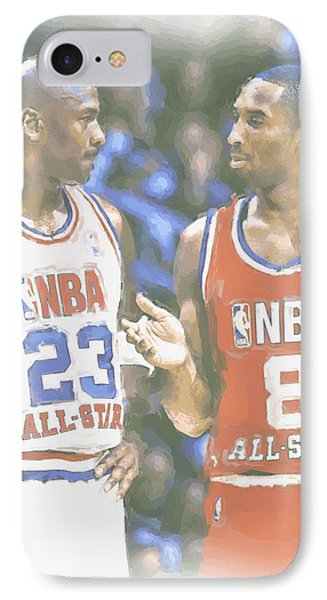 Kobe Bryant Michael Jordan IPhone Case by Joe Hamilton