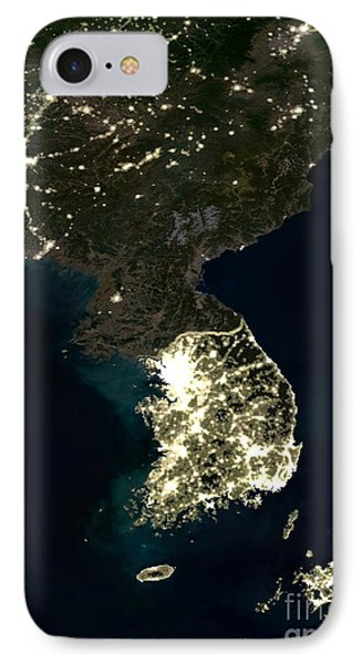 Korean Peninsula IPhone Case by Planet Observer and SPL and Photo Researchers
