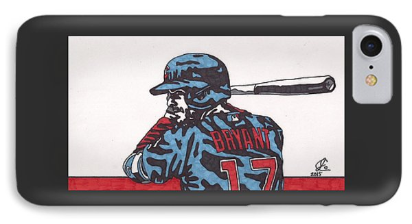 Kris Bryant  IPhone Case by Jeremiah Colley