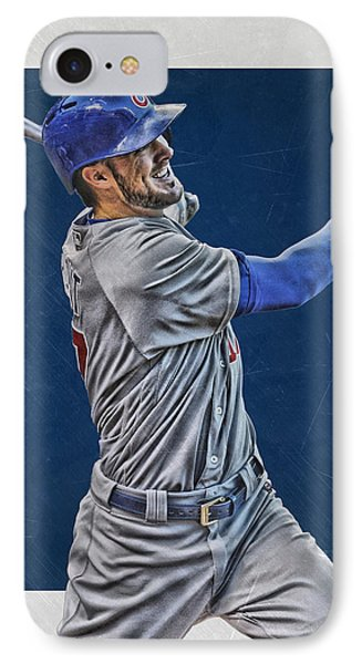 Kris Bryant Chicago Cubs Art 3 IPhone Case by Joe Hamilton