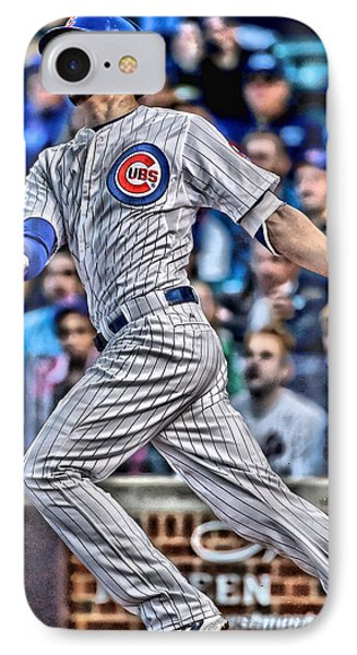 Kris Bryant Chicago Cubs IPhone Case by Joe Hamilton
