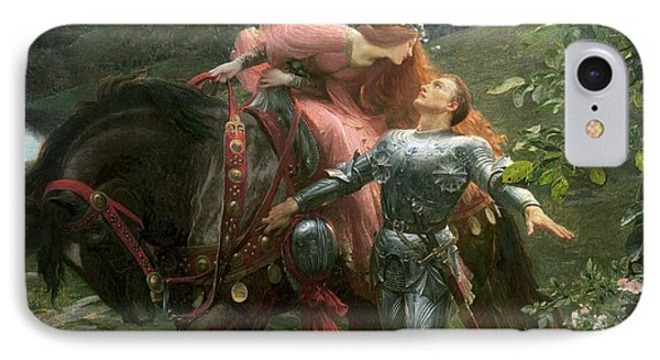 La Belle Dame Sans Merci IPhone Case by Sir Frank Dicksee