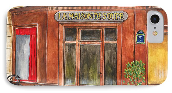 La Maison De Soupe IPhone Case by Debbie DeWitt