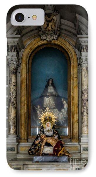 La Pieta Statue IPhone Case by Adrian Evans