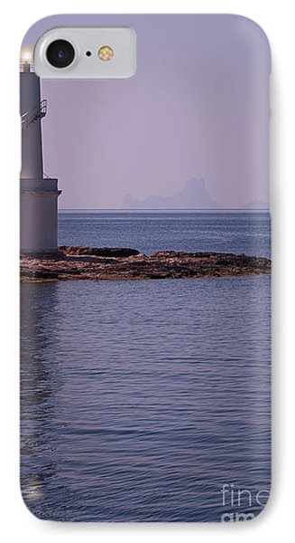 La Sabina Lighthouse Formentera And The Island Of Es Vedra Phone Case by John Edwards