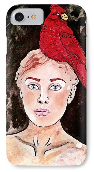 Lady Cardinal IPhone Case by Amy Sorrell