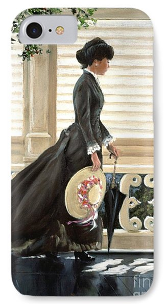 Lady On A Porch IPhone Case by Michael Swanson