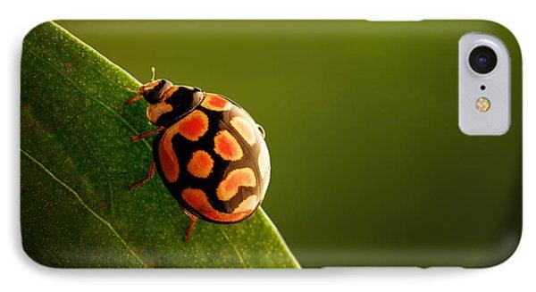 Ladybug  On Green Leaf IPhone 7 Case by Johan Swanepoel