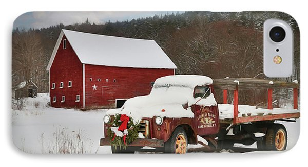 Lake George Country Farm IPhone Case by Lori Deiter