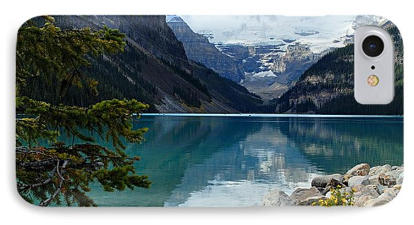 Lake Louise 2 IPhone Case by Larry Ricker