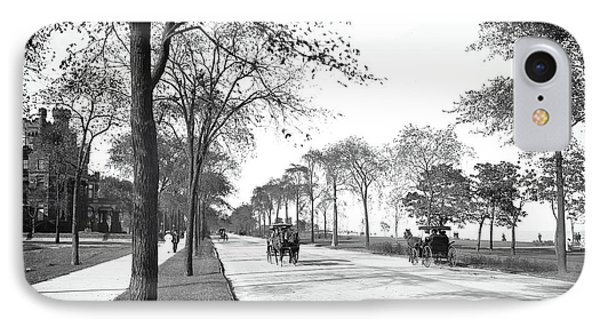 Lake Shore Drive - Chicago 1905 IPhone Case by Daniel Hagerman