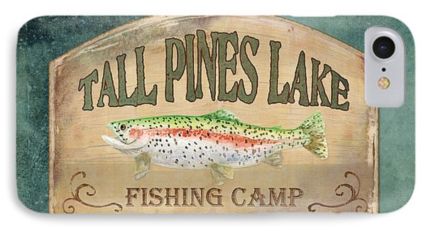 Lakeside Lodge - Fishing Camp IPhone Case by Audrey Jeanne Roberts