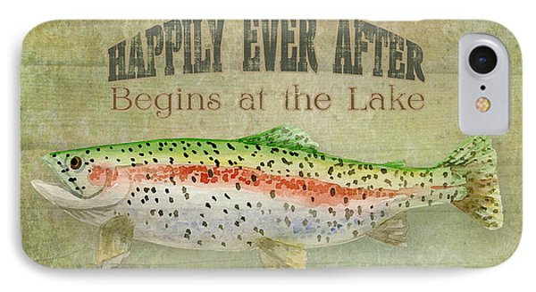Lakeside Lodge - Happily Ever After IPhone Case by Audrey Jeanne Roberts