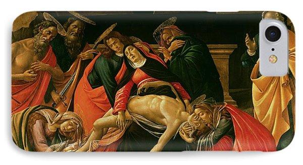 Lamentation Of Christ Phone Case by Sandro Botticelli