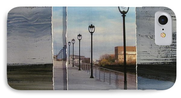 Lamp Post Row Layered IPhone Case by Anita Burgermeister