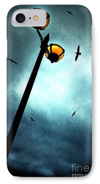 Lamps With Birds Phone Case by Meirion Matthias