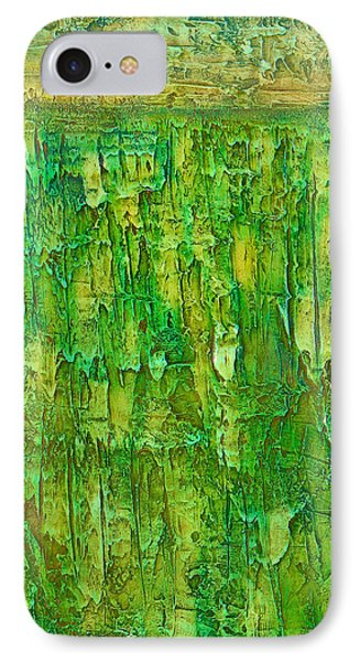 Land In Green IPhone Case by Habib Ayat