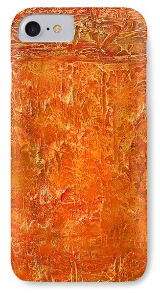 Land In Orange IPhone Case by Habib Ayat