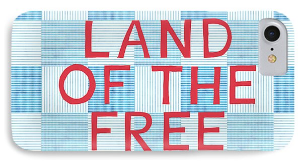Land Of The Free IPhone Case by Linda Woods