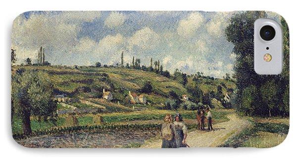 Landscape Near Pontoise IPhone Case by Camille Pissarro