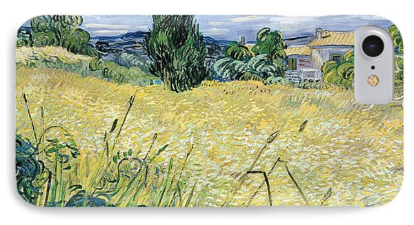 Landscape With Green Corn IPhone Case by Vincent Van Gogh